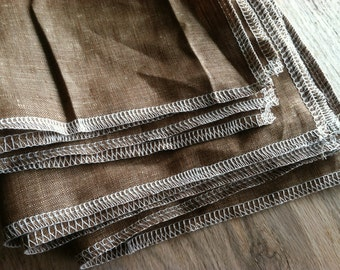 Heather Brown Linen Napkins for Everyday Use, Choose Your Quantity