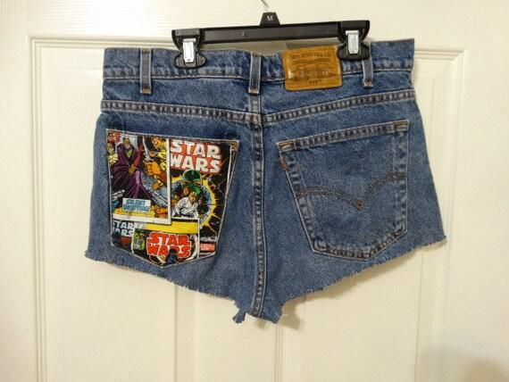 Star Patch Denim Levi's Short Upcycled Etsy Waist Wars 32 Ffnrxr6f n0X8wOkPZN