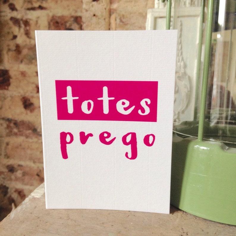 062cb3adc21fc5 Totes Prego Congratulations New Baby Pregnancy card