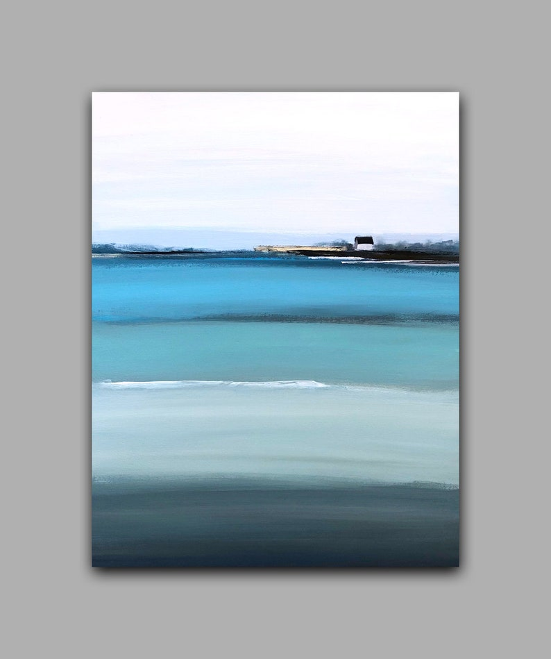 Large Abstract Wall Art Ocean Painting Cape of Good Hope image 0