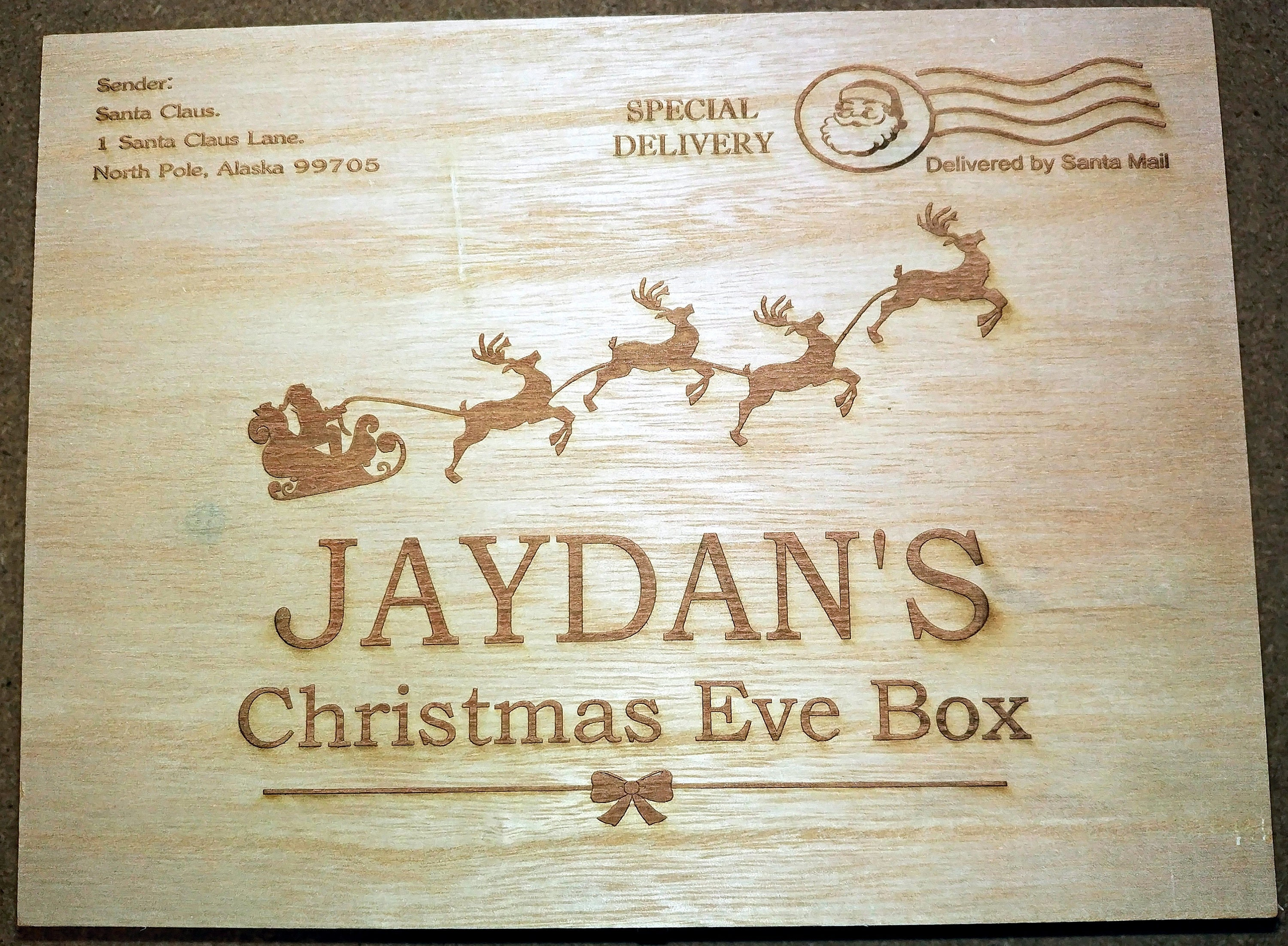 Personalised Wooden Christmas Eve Box Engraved Christmas Eve | Etsy