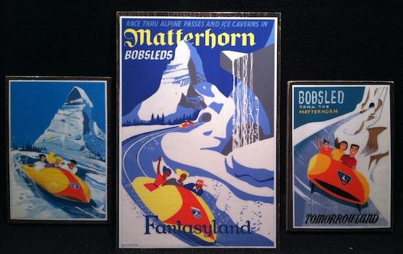 Disney MATTERHORN 1960 Patent Art POSTER! Blueprint Disneyland - Fantasyland Vintage Tomorrowland up to 24 x 36 Bobsleds