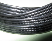 1meter (3.28ft) Replacement Wicker Repair Rattan Braid BLACK WAVED for chairs table etc.