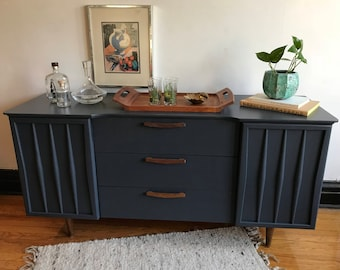 Credenza Definition Furniture : Soldvintage green campaign credenza by drexel refinished etsy