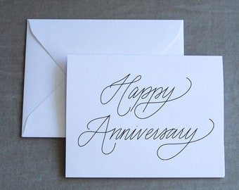Happy Anniversary - Folded Notecard with Envelope