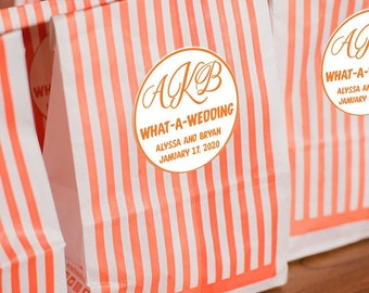 What-A-Wedding & What-A-Night Stickers (Set of 50) | Wedding Reception What-A-Burger Late Night Snacks