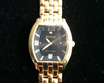 f57888d10915 Vintage Armitron Men s Gold Tone Watch With Gold Tone Band