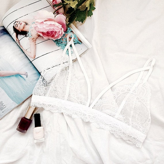 ed593131c12d8 Dreamy harness lace bralette soft bra handmade lingerie
