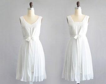 1a09dde3780 EDEN - reversible chiffon white loose trapeze shift dress. convertible white  maternity dress + matching sash belt bow