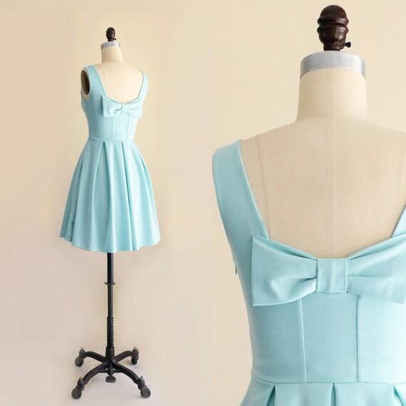 Mint Green Bridesmaids Dresses | January Seafoam Mint Green Bridesmaid Dress With Back Bow Etsy