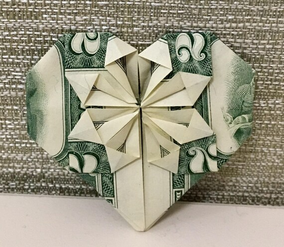 Money Heart Or Money Shirt With Tie Origami Your Choice Of Etsy