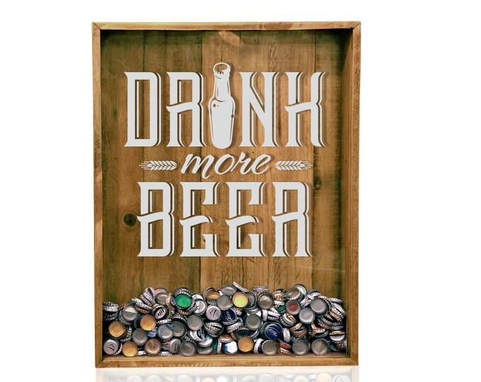 18x24 Bottle Cap Holder Beer Sign Shadow Box Top