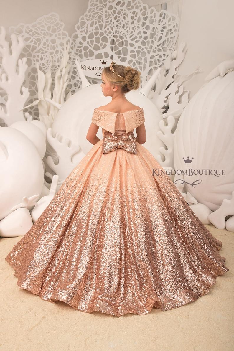 Blush Sparkling Sequins formal flower girl dress for special image 0