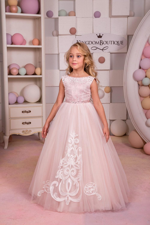 Blush color rosa de encaje y tul-boda de Dama de honor fiesta | Etsy