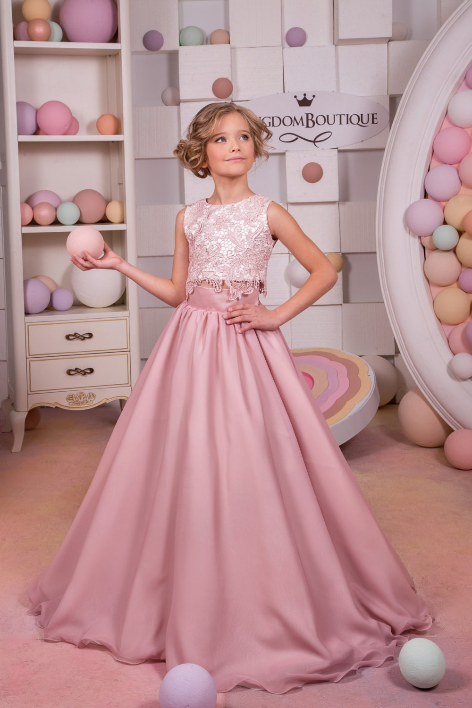 Blush de encaje de color rosa de la boda vestido de fiesta