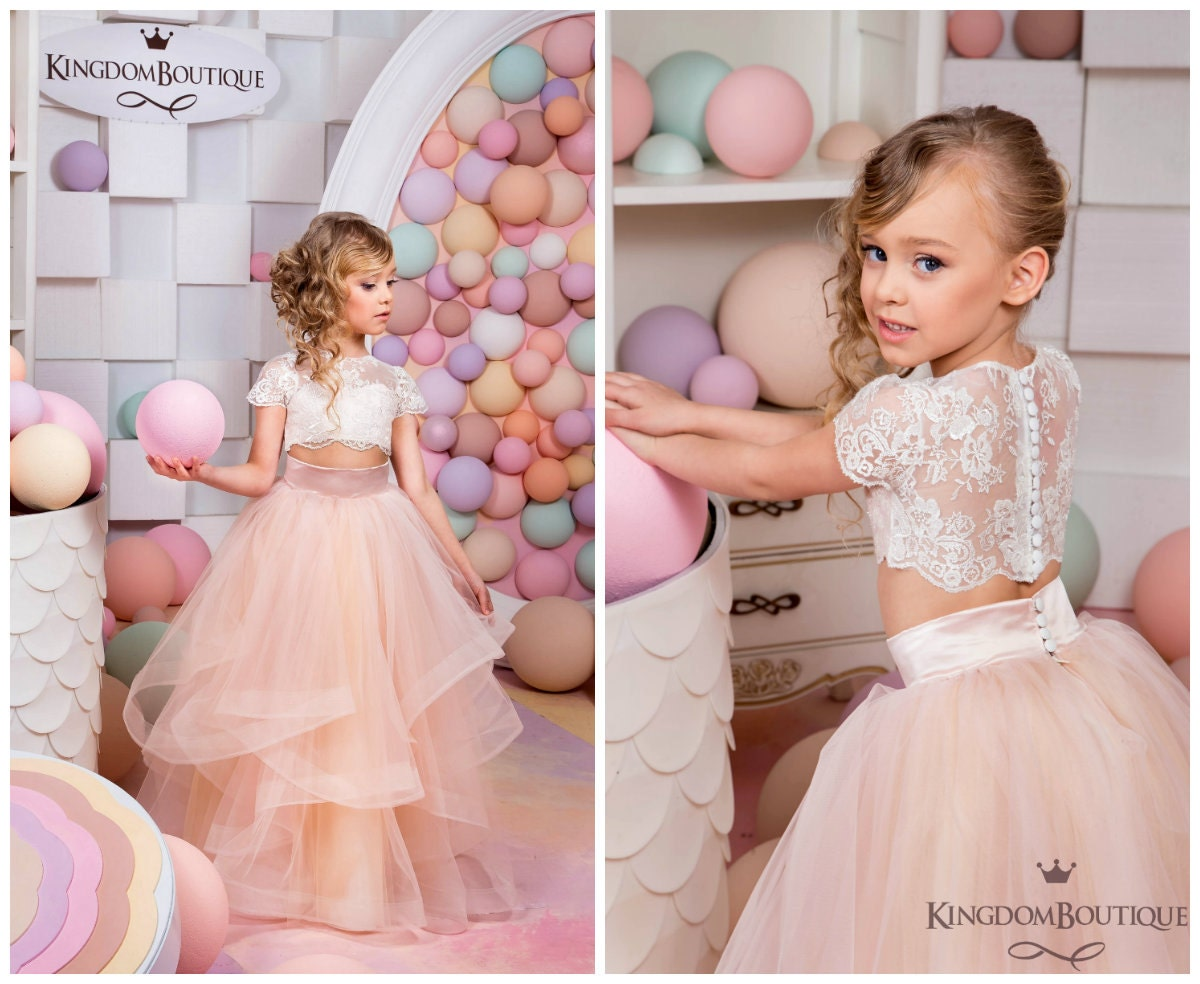 Marfil y Blush color rosa niña de las flores de | Etsy