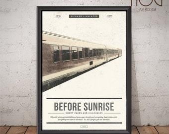 BEFORE SUNRISE Poster - Unique Retro Movie Poster - Movie Print, Film Poster, Wall Art