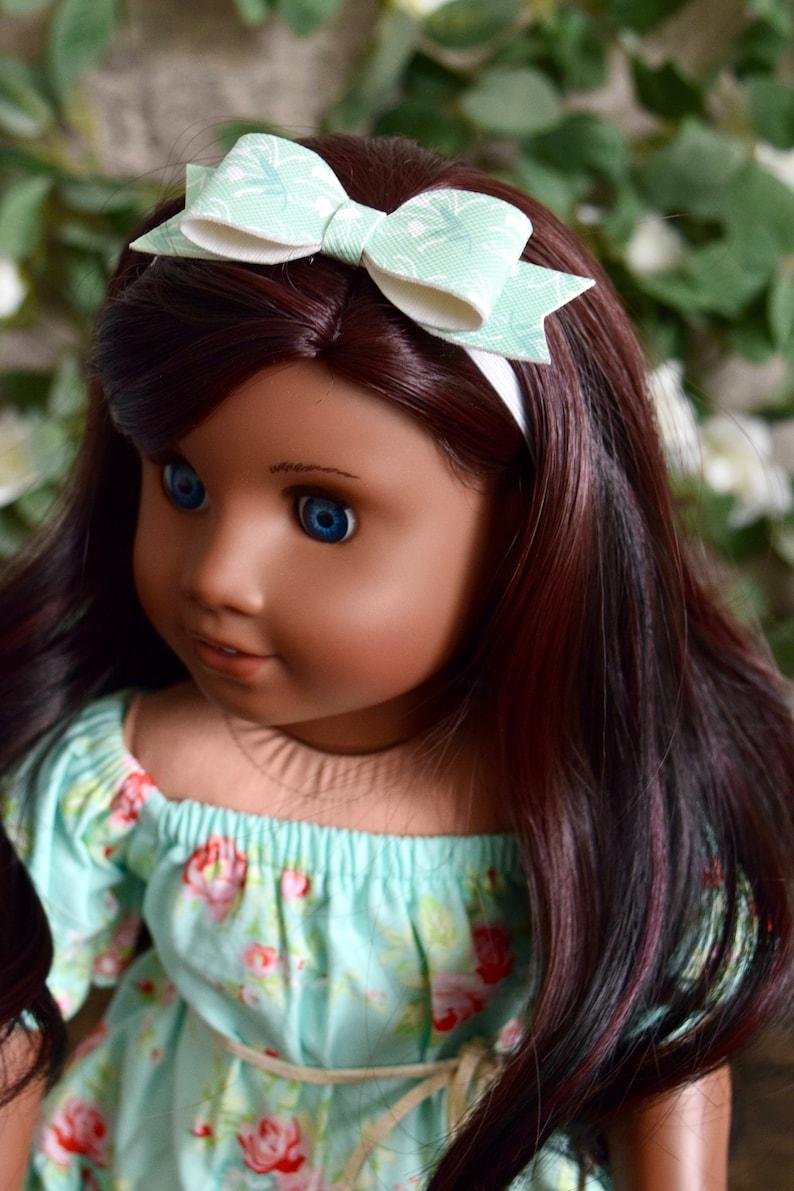 Doll Flower Bow Headband Doll Headbands Flower Bow Headband Doll Accessory 18 Inch Doll Flower Bow Headband 18 Inch Dolls