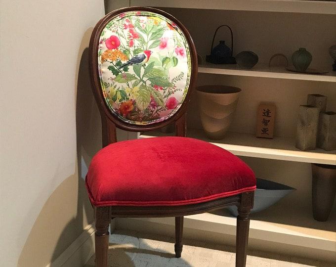 Botanical Print Custom Upholstered Chair
