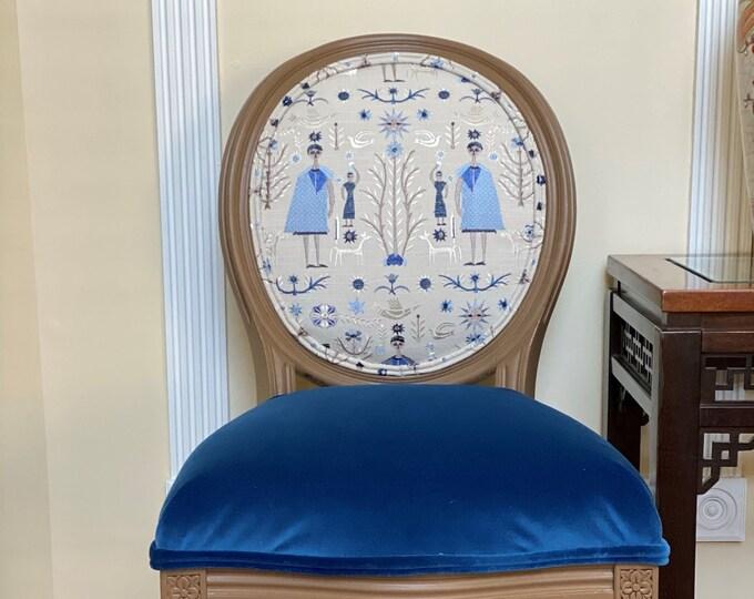 Egyptian Custom Upholstered Chair