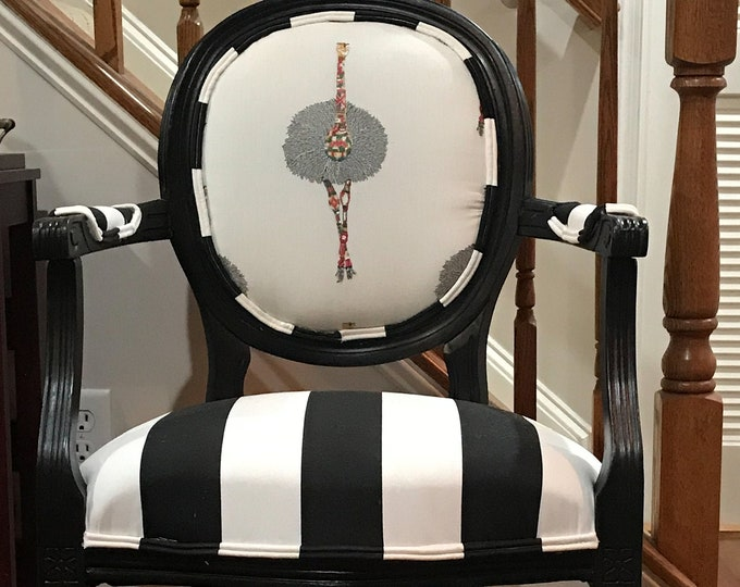 SOLD Ostrich Custom Upholstered Chair