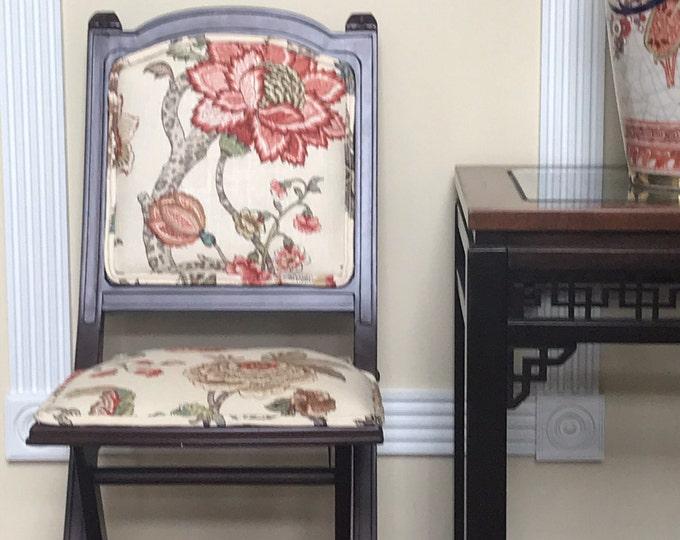Custom Upholstered Folding Chair