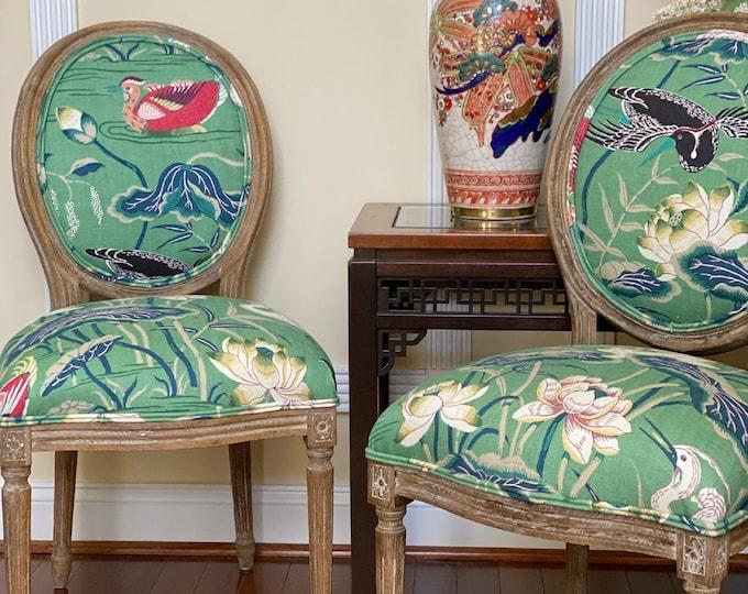 SOLD Custom Upholstered Chair