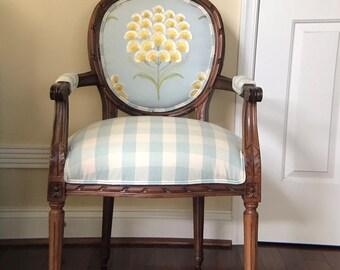SOLD Sunshine Burst Custom Upholstered Chair