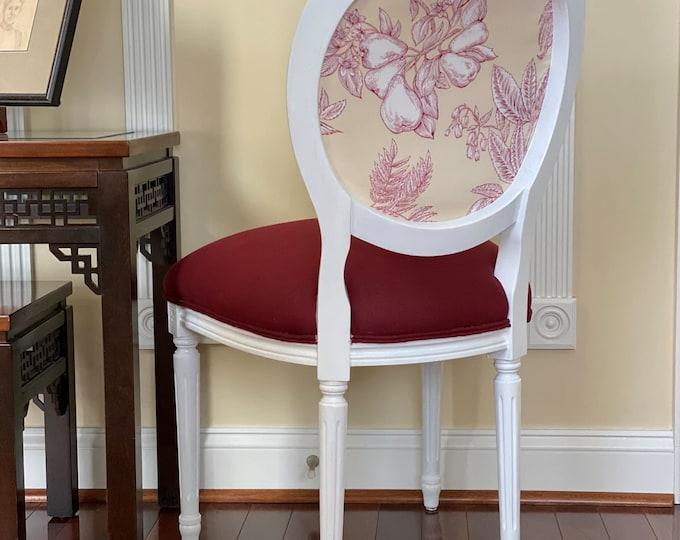 Harvest Apple Custom Upholstered Chair