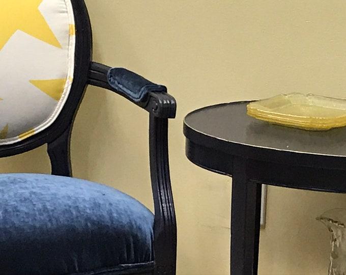 Navy Star Custom Upholstered Chair