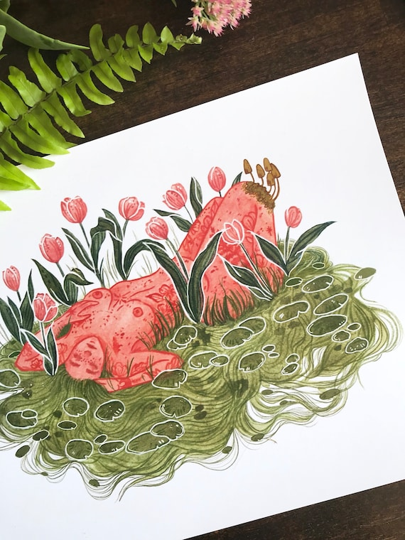 Lady of the Lilies print by Madison Ross