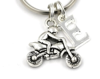 Motorbike Key Ring, Personalized Motorcycle Keychain, Motorbike Keyring, Initial Keychain,Biker Gift,Gift For Him Her, Gifts For Bike Riders