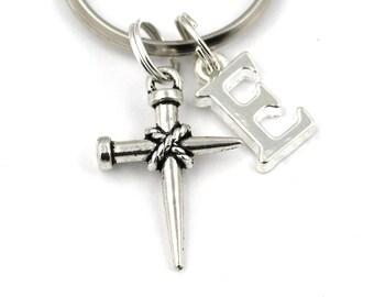 Nail cross keychain  4d8bb53261