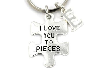 I Love You To Pieces Key Ring 210b5f5eb656