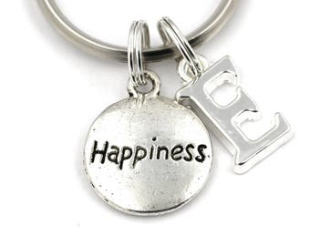 Happiness Key Ring, Personalized Be Happy Keychain, Inspiring Keyring, Initial Keychain, Harry Potter Dumbledore, Christmas Gift, Motivation
