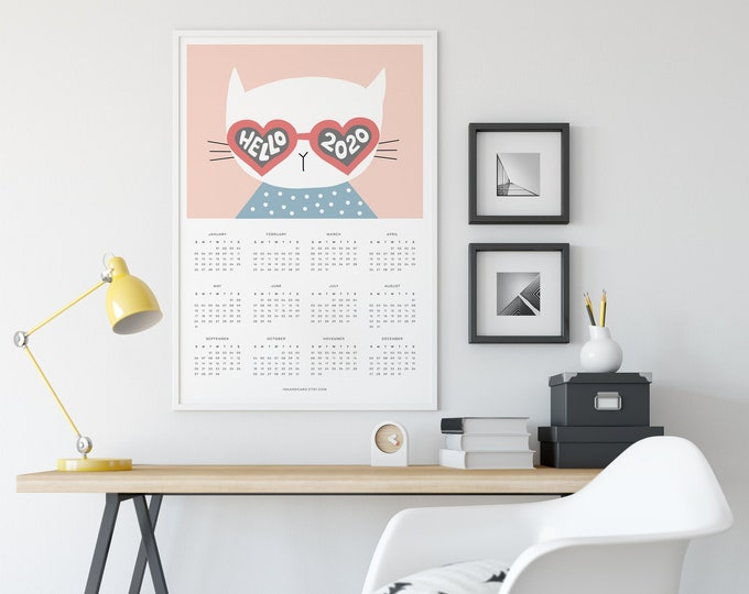 2020 Illustrated, Cat Calendar