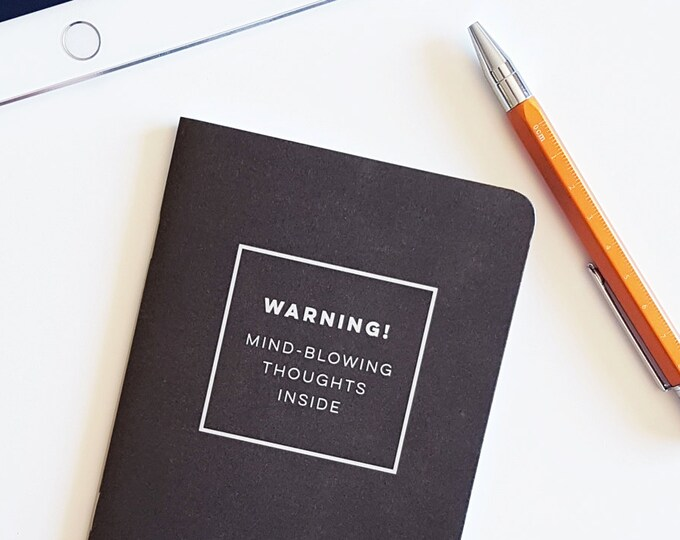 Mind Blowing Thoughts 28 page notebook
