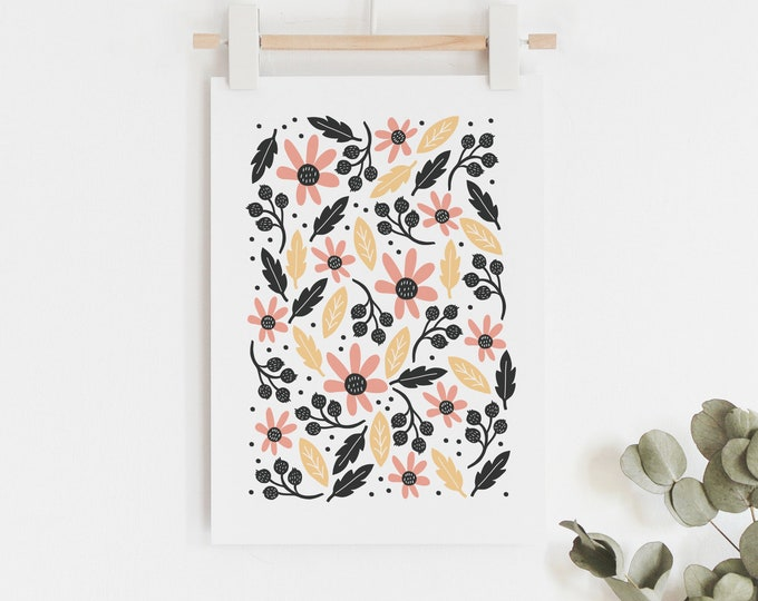 Botanical illustrated art print