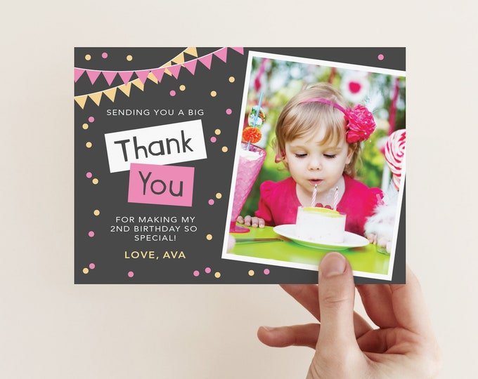 Thank You Card #IC021pink (digital file)