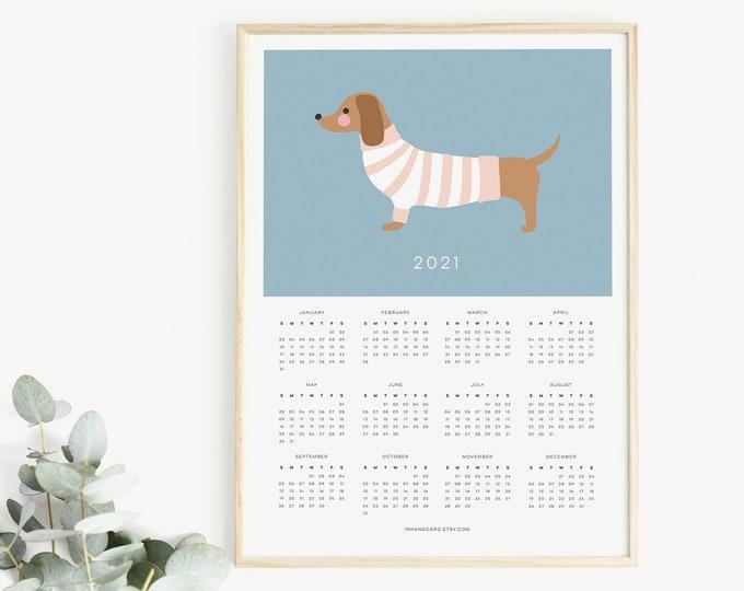 2021 dachshund Calendar