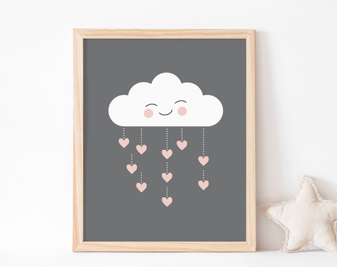 Cute Cloud Art Print