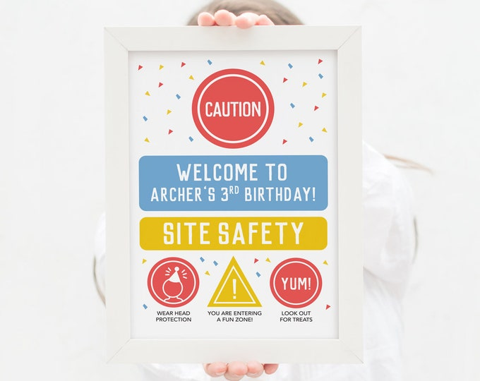 Welcome Sign for Dump truck Party / Construction Party  welcome sign / truck birthday party Invitation / party printables building or truck