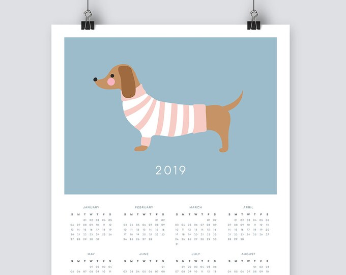 2019 dachshund Calendar
