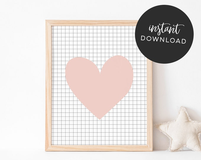 Pink Heart - INSTANT DOWNLOAD