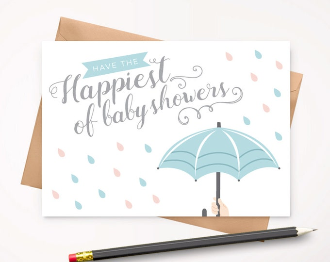 Baby Shower greeting card with envelope