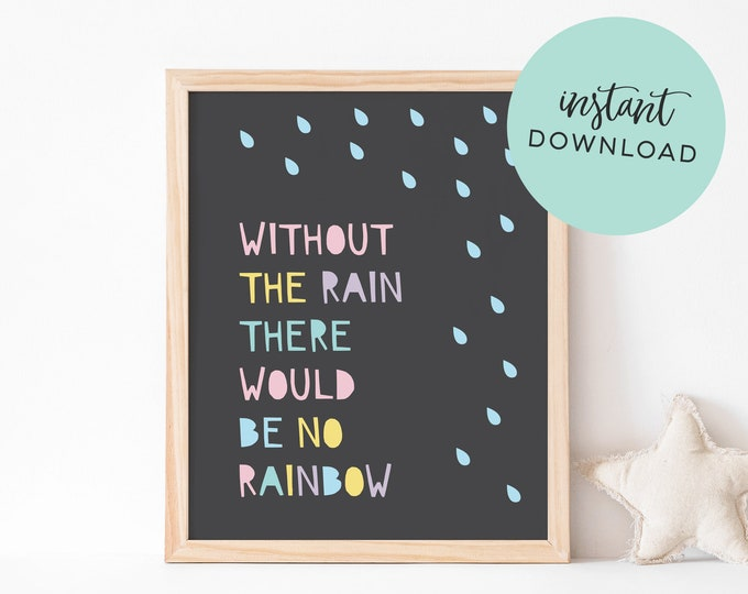 Cute rainbow art print - Digital Download