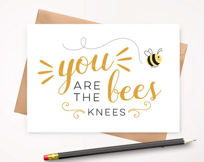 Bees knees greeting card and envelope