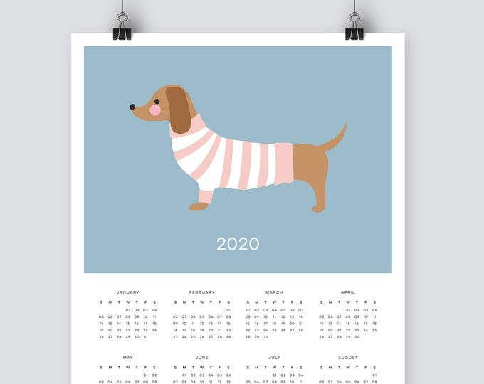 2020 dachshund Calendar