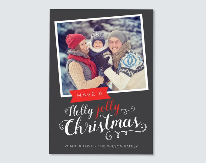 Holly, Jolly Christmas Card