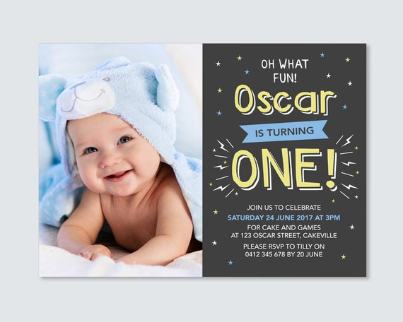 Cool Boys 1St Birthday Invitation Card For You To Print Etsy Funny Birthday Cards Online Alyptdamsfinfo